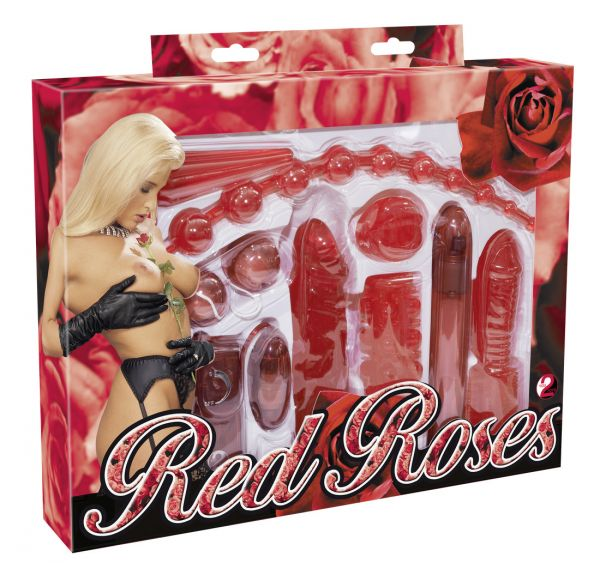Scatola Sex toys Red Roses 9 Pezzi