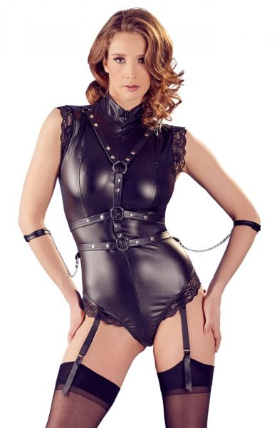 Body in Similpelle con Harness