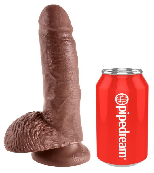 "7"" Cock with Balls Brown"